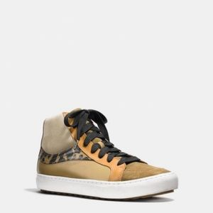🌟Coach Mens Leather High-Top Sneaker